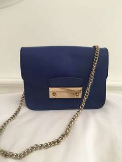 Preloved Furla Julia Blue DB only