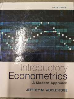 Introductory Econometrics A Modern Approach by Jeffrey M. Wooldridge