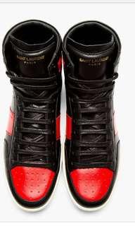 🚚 ysl聖羅蘭 slp 專櫃真品 原價兩萬多 球鞋 黑紅 saint laurent jordan 1九成新 高質感 Bred 42 us9.5可穿