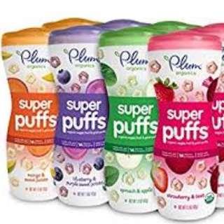 🚚 BRAND NEW Plum Organics Super Baby Puffs 60g Different Flavours