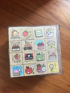 Brand new rubber stamps x16