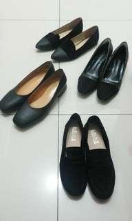 🚚 全新復古黑色低跟鞋,上班,通勤,櫃姊