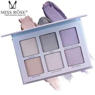 🦋MISS ROSS Kit Palette Shimmer Highlighter Wet Soft Powder🦋