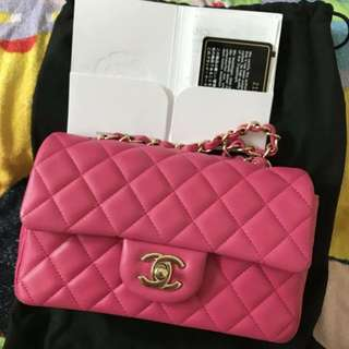 Chanel 💕20cm hotpink Classic bag