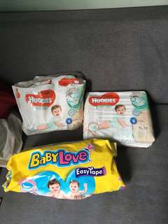 Diapers and clothes in a giveaway price