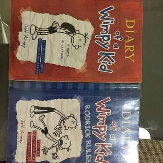 Diary of a Wimpy Kid and Captain Underpants Books