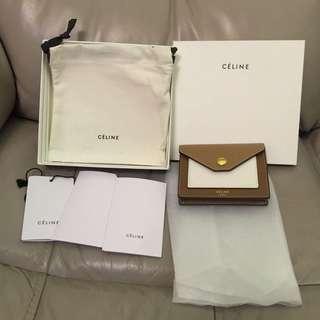 Celine pocket card holder 99% new coin purse wallet 卡片套 散子包 銀包