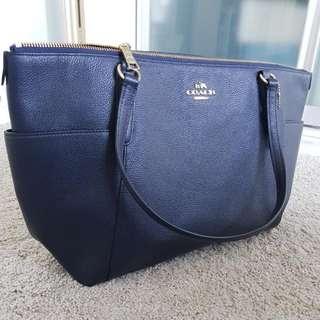ORIGINAL COACH HANDBAG (NEW!) MIDNIGHT BLUE TOTE BAG