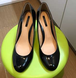 Forever 21 黑色高踭鞋 約3寸高 38號  順豐到付