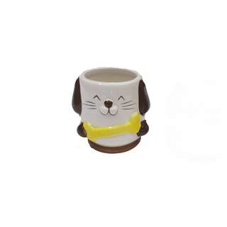 Miniature ceramic dog cups