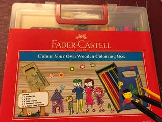 Faber Castell Create Your Own Wooden Colouring Box