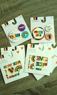 L.A PRIDE Tattoos and Pins