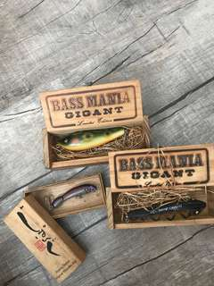 Vintage wooden fishing lures