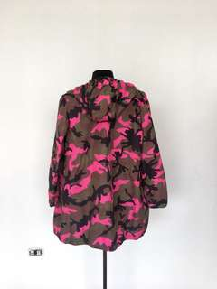 Valentino Roma Pink Camouflage Hooded Jacket