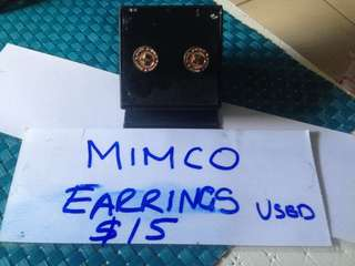 Mimco rose gold earrings