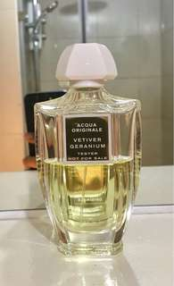 Creed Vetiver Geranium 100ml Tester Bottle (50% full)