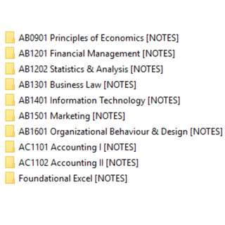 NTU NBS ACCOUNTANCY YEAR 1 NOTES/ BIBLES (SOFTCOPY)