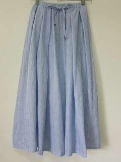 🚚 純棉直紋小清新長裙