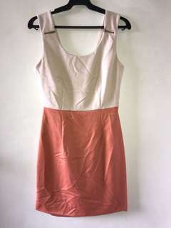 Forever 21 Amber and Beige Dress