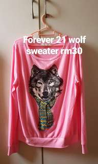 Forever 21 wolf sweater