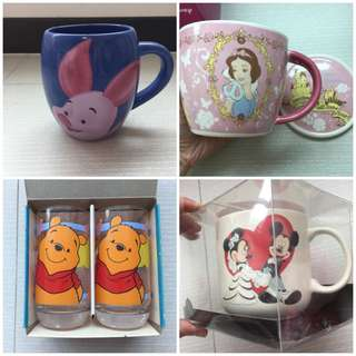 Winnie The Pooh Mug, Couple Mugs, Disney Snow White (Each)