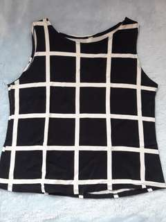 Black and white Gingham checkered top