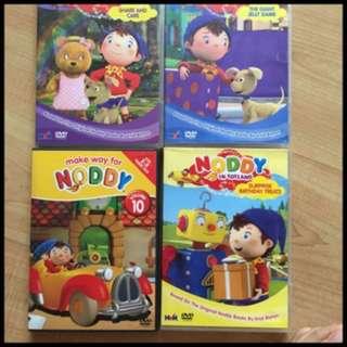 Pre-loved noddy dvds (set of 4)