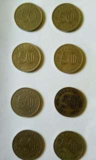 Borong syiling 50sen lebih 40 tahun (1973 - 1981)