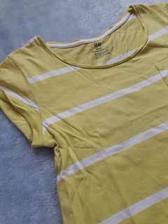 Yellow stripped top