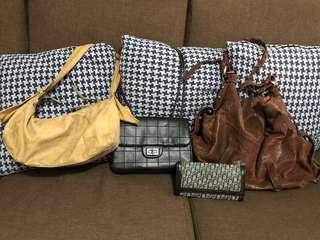 Bundle bags- Chanel,mulberry, christian dior, esprit
