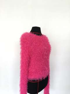 Pink Furry Jumper