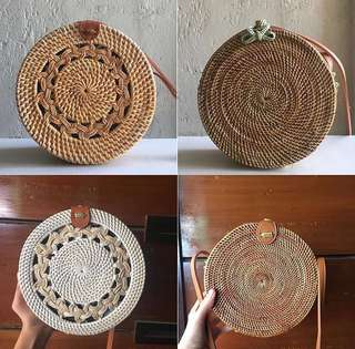 Rattan bags fresh from bali