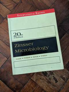 Zinsser Microbiology 20th edition