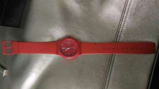 Preloved jam tangan candy merah