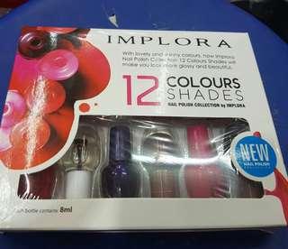 Kutek/Nail Polish Implora Set (isi 12 warna)