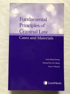 Fundamental principles of criminal law