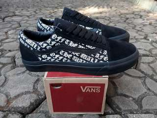 READY STOCK  PREMIUM BNIB  MADE IN CHINA  WAFFLE DT VANS OLD SKOOL OFF THE WALL ALLBLACK  SIZE 40/41/42/43/44