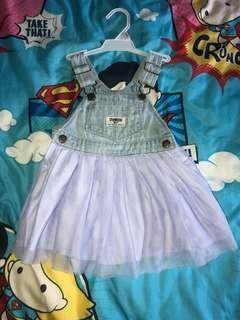 🚚 EUC Oshkosh B'gosh Denim Jumper Dress