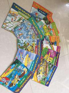 A set of 12 the Magic School Bus books