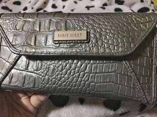 Preloved Nine West grey wallet