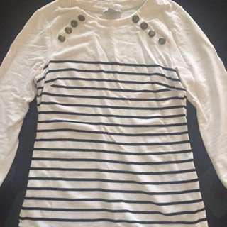 H&M Breton Stripe Top