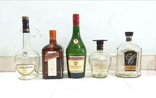 Cognac Empty Bottles