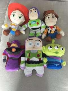 迪士尼 Toy Story 反斗奇兵 胡迪 巴斯 彈弓狗 三眼仔 毛公仔
