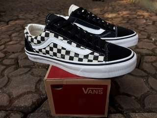 READY STOCK  PREMIUM BNIB  MADE IN CHINA  WAFFLE DT VANS OLD SKOOL TWO TONE CHECKERBOARD  SIZE 40/41/42/43/44