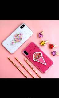 New Case Ice Cream for Iphone& oppo