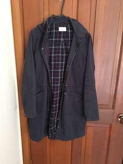 Weathered Navy Coat, Size S