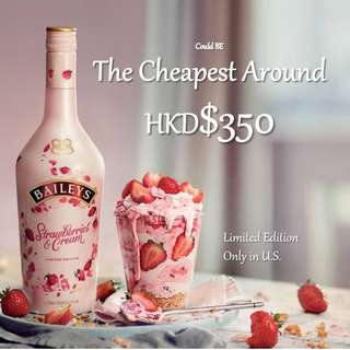 ⚠️[現貨限量供應] Bailey's 🍓士多啤梨忌廉味甜酒  限定版新口味 Limited Edition Strawberry and cream Baileys liqueur