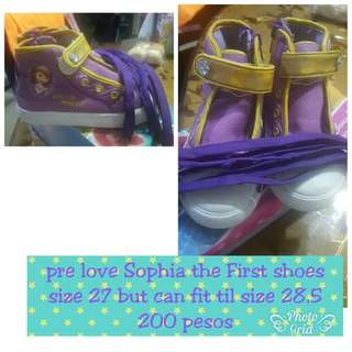 Pre love Sophia the First high cut sneakers
