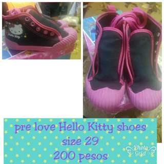 Pre love Hello Kitty high cut sneakers