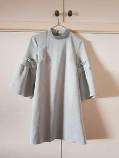 BNWT Asos Mint Flared Sleeve A Line Shift Dress Size 6/XS